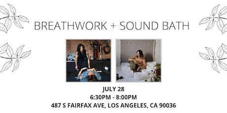 Breathwork + Sound Bath tickets
