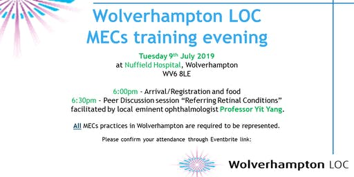 Wolverhampton LOC MECs Education Evening 2019