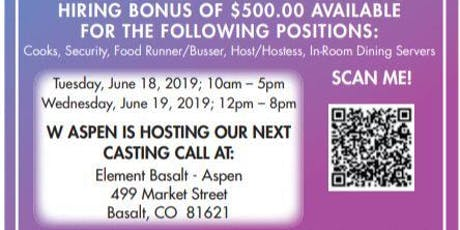 Job Fair / Casting Call for New Hotel W Aspen  tickets