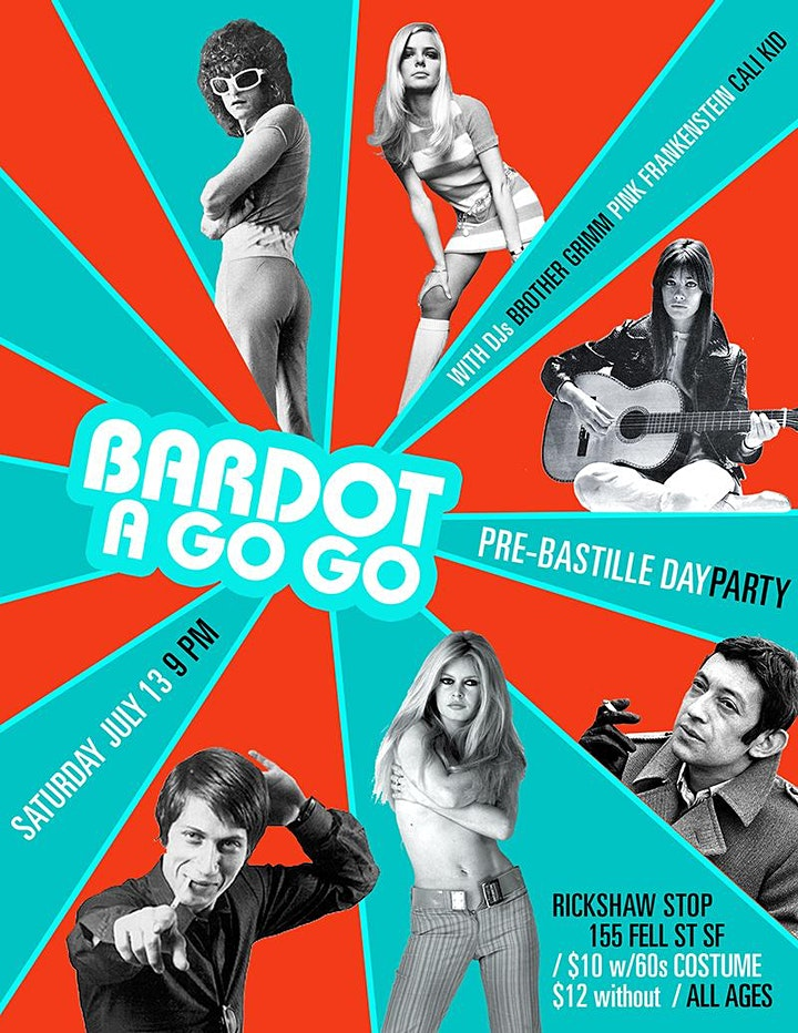 BARDOT A GO GO's Pre-Bastille Day Dance Party! image