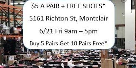 $5 A PAIR + FREE SHOES*: Women's Shoe Sale tickets