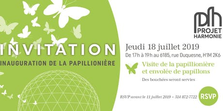Inauguration de la papillionière tickets