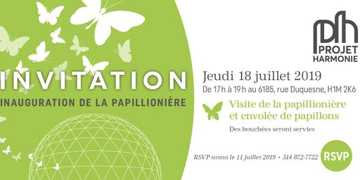 Inauguration de la papillionière