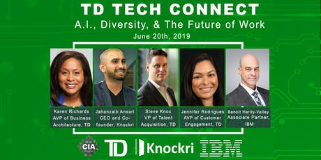Knockri + TD Bank host Tech Connect (A.I., Diversity, and the Future of Work) tickets