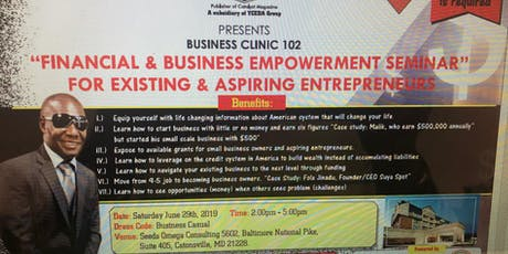 Business Clinic 102 tickets