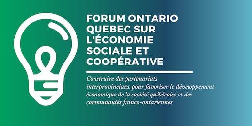 Forum Québec-Ontario sur l'économie sociale et coopérative