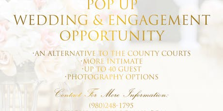 """Pop Up Wedding or Engagment Opportunity"" tickets"