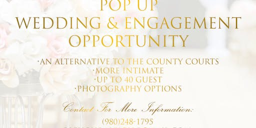 """""""Pop Up Wedding or Engagment Opportunity"""""""