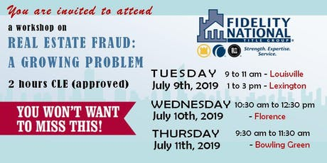 REAL ESTATE FRAUD: A GROWING PROBLEM - Louisville tickets