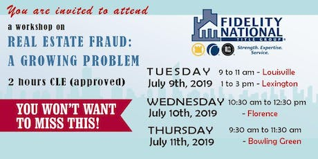 REAL ESTATE FRAUD: A GROWING PROBLEM - Bowling Green tickets