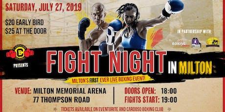 Fight Night In Milton tickets
