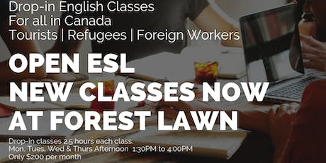 English Classes (Free and Affordable options) for Foreign speakers tickets