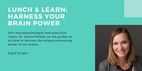 Lunch & Learn: Harness YOUR Brain Power tickets