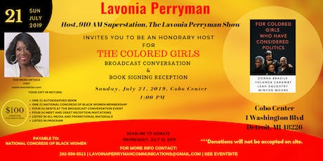 The Colored Girls Broadcast Conversation & Book Signing Reception tickets
