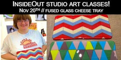 InsideOut Studio/ Nov Art Class/ Cheese Tray w/ Knife-$40.00