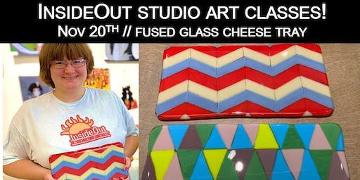 InsideOut Studio/ Nov Art Class/ Cheese Tray w/ Knife-$40.00