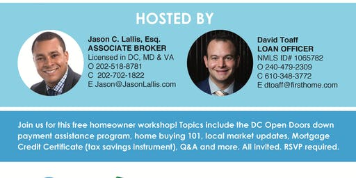 Homebuyer Seminar on H St! (NE DC)
