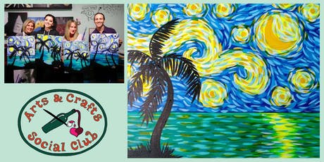 "BYOB Painting Class - ""Tropical Starry Night"" tickets"