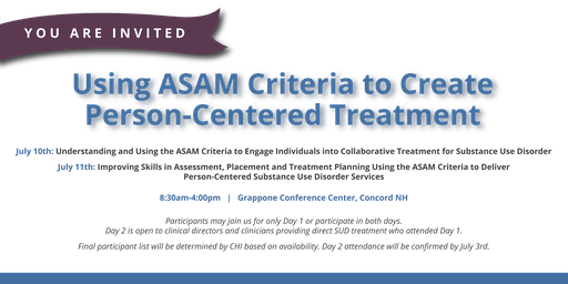 Using ASAM Criteria to Create Person-Centered Treatment
