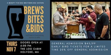 Brews, Bites, & Bids - craft beer & food pairing tickets