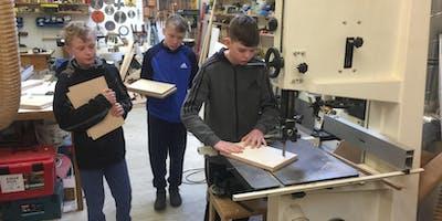Kids - Thursday 8th August 9.30-1.30pm, Junior Woodwork Basics, age 11-16