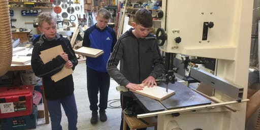 Juniors - Thursday 8th August 9.30-1.30pm, Woodwork Basics, age 11-16