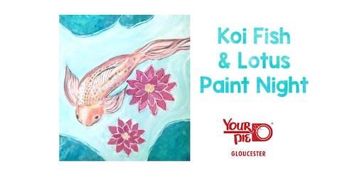 Koi Fish & Lotus Paint Night @ Your Pie