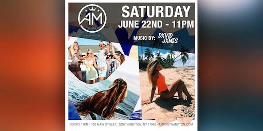 DXVID JXMES @ AM Southampton - Saturday 6/22