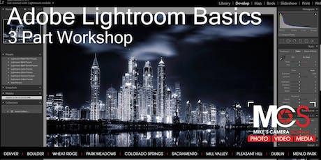 Adobe Lightroom Basics 3-part Workshop- CO Springs tickets
