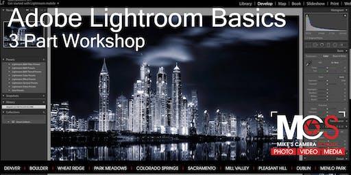 Adobe Lightroom Basics 3-part Workshop- CO Springs