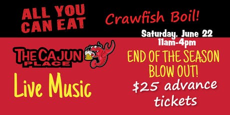 The Cajun Place All U Can Eat Crawfish Boil tickets