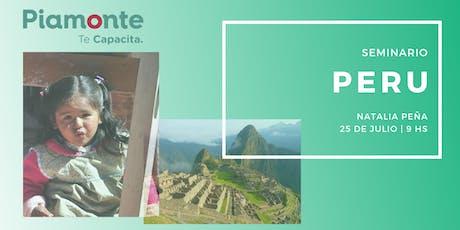 Seminario Peru entradas
