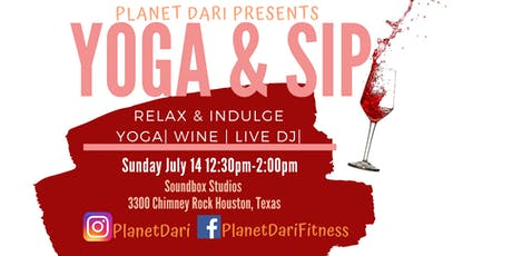 Yoga and Sip tickets