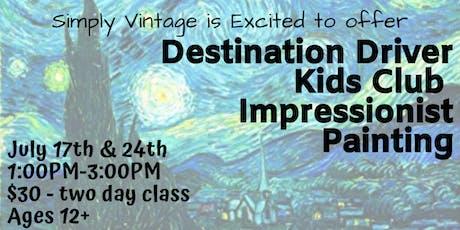 Destination Driver: Impressionist Painting tickets