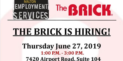 The Brick Hiring Event (Warehouse & Appliance Service Technicians)