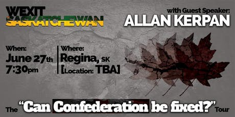 """The """"Can Confederation be fixed?"""" Tour tickets"""
