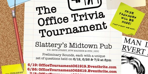 The Office Trivia Tournament - Preliminary Round 5