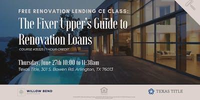 Realtor CE Class | Renovation Loans