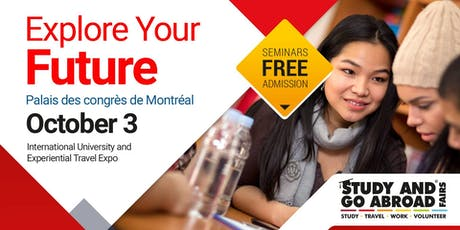 Study and Go Abroad Fair Montreal - Fall 2019 tickets