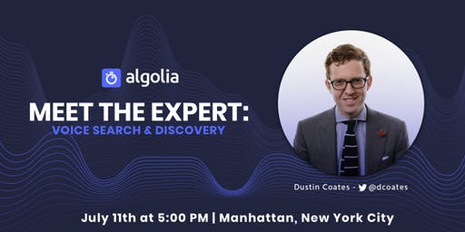 [NYC] Meet the Expert: Voice Search & Discovery
