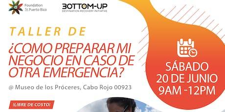 Taller de Resiliencia de Negocios en Cabo Rojo tickets