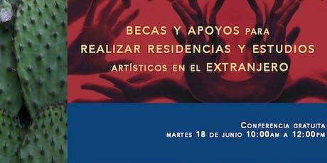 Becas y Apoyos para realizar residencias y estudios artísticos en el extranjero entradas