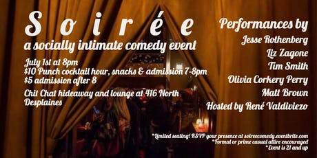 Soiree: A Socially Intimate Comedy Event tickets