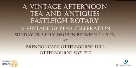 Vintage afternoon with  tea and antiques.  Only £8.00 a ticket! tickets