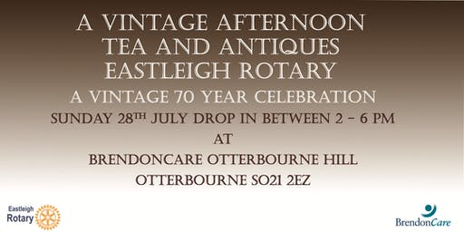 Vintage afternoon with  tea and antiques.  Only £8.00 a ticket!