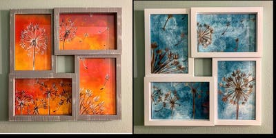 """-""""Make a Wish"""" Painting-4 Paneled Frame Paint Night at Russo's"""