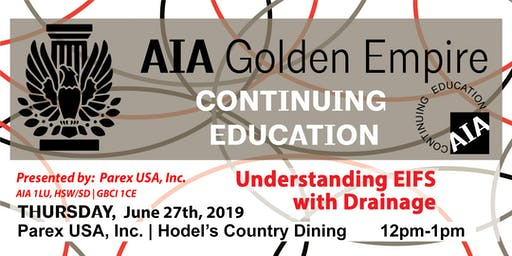 June 2019 | AIAGE CONTINUING EDUCATION LUNCH & LEARN | Hodel's
