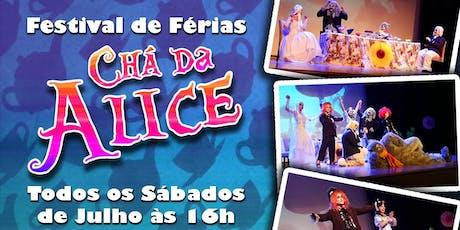 DESCONTO! Chá da Alice no País das Maravilhas no Teatro West Plaza  ingressos