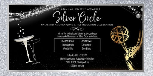 NATAS Mid-America EMMY Silver Circle Quad Cities July 20, 2019