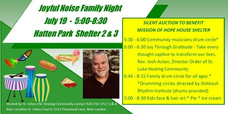 Joyful Noise Family Night & Silent Auction Mission of Hope House Shelter tickets